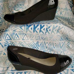 Anne Klein Sport Shoes - Anne Klein Sport Black Patent Wedge Shoes 11